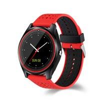 V9 Esporte Pedômetro relógio Inteligente Com Câmera Bluetooth Apoio TF Cartão SIM MP3 Relógio Dos Homens/Mulheres Smartwatch Para Android PK DZ09