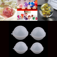 4 Piece Silicone DIY Sphere Ball Mold Mould For Resin Casting 70/80/90/100mm