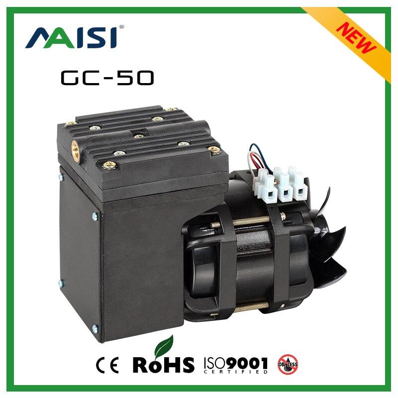 (GC-50) 110V /220V (AC) 33L/MIN 80 W oil free diaphragm vacuum pump цена