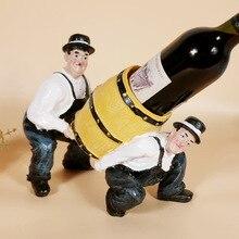 Личный пользовательский стеллаж для вина бармен переносил ювелирные изделия из каучука два символов винной стойки
