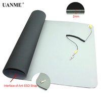 710x500x2mm Anti Static ESD Mat+Ground Wire+ESD Wrist For Mobile Phone Computer Sensitive Electronics Repair Blanket Work Pad