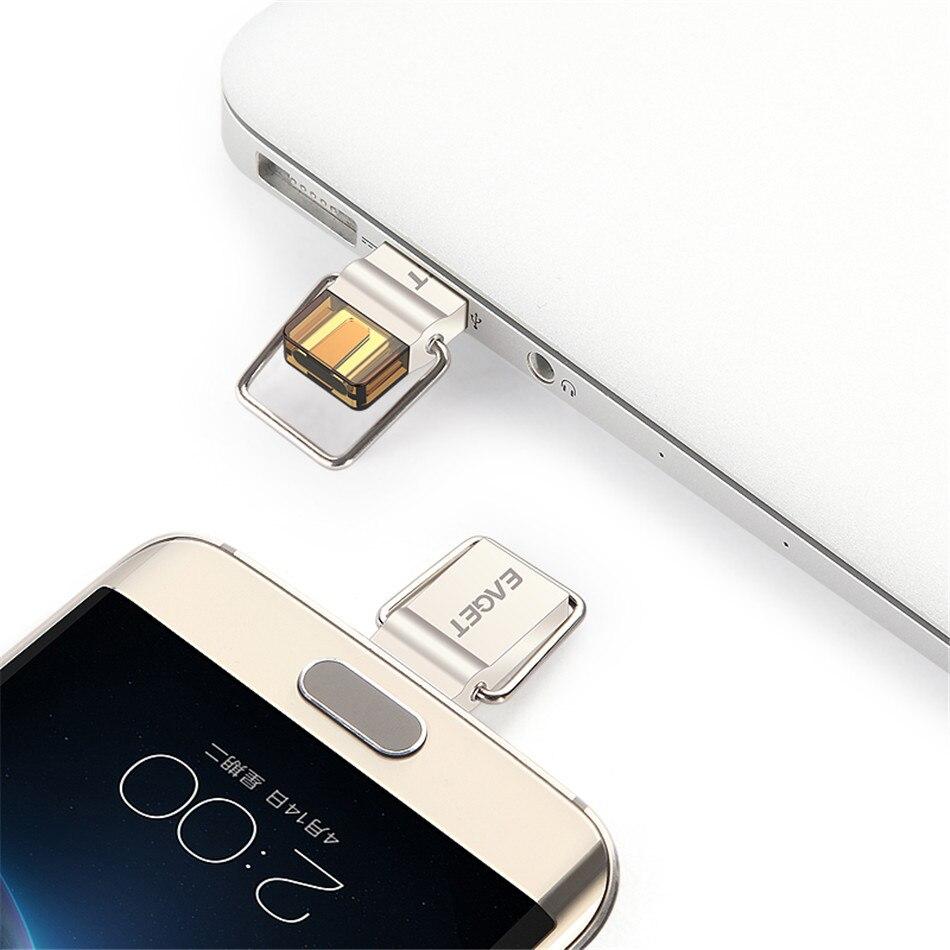 Eaget USB Flash Drive 32 GB OTG Métal USB 3.0 Pen Drive Key 32 GB Type C USB bâton mini-Clé usb U disque Mémoire Bâton Chaud vente