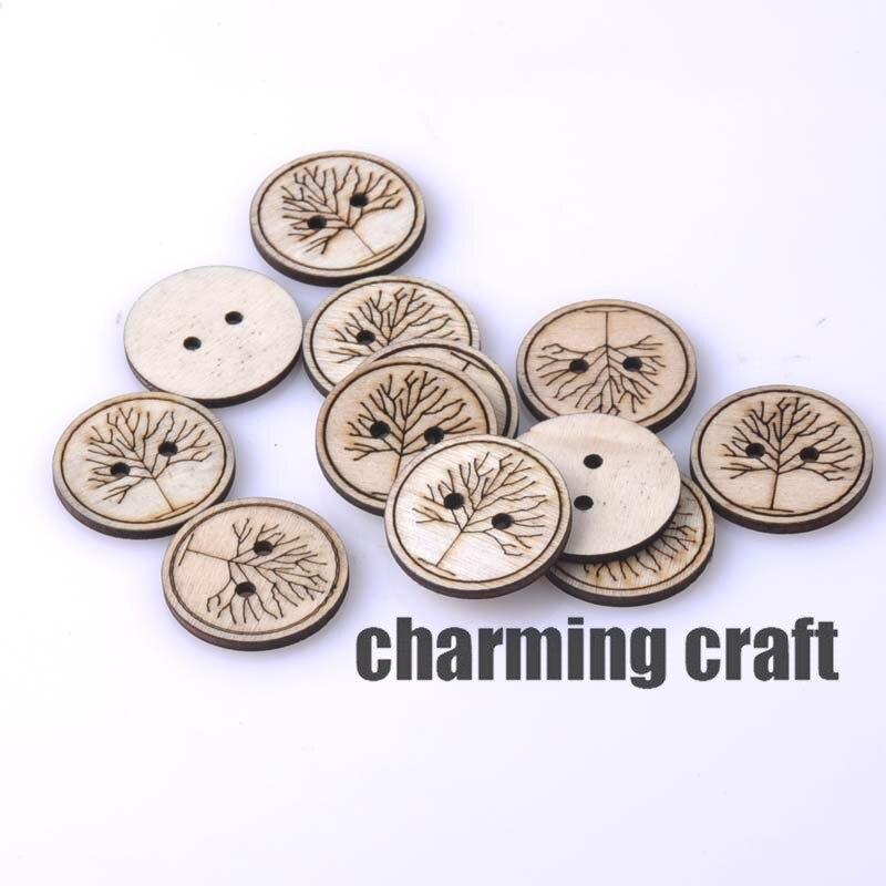ᐂNatrual ronda botones de costura de madera del patrón para el arte ...
