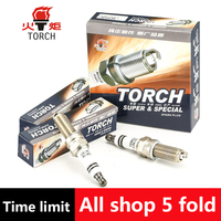 4pcs Lot China Original TORCH Iridium Spark Plugs LDK7RTI For BMW 1 CHERY Arrizo 7 M11tiggo