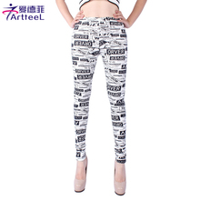 Fashion Women Leggings Letter Printed Leggings Female Fitness Leggins legins Punk Pant Legging Pants for Woman Trousers