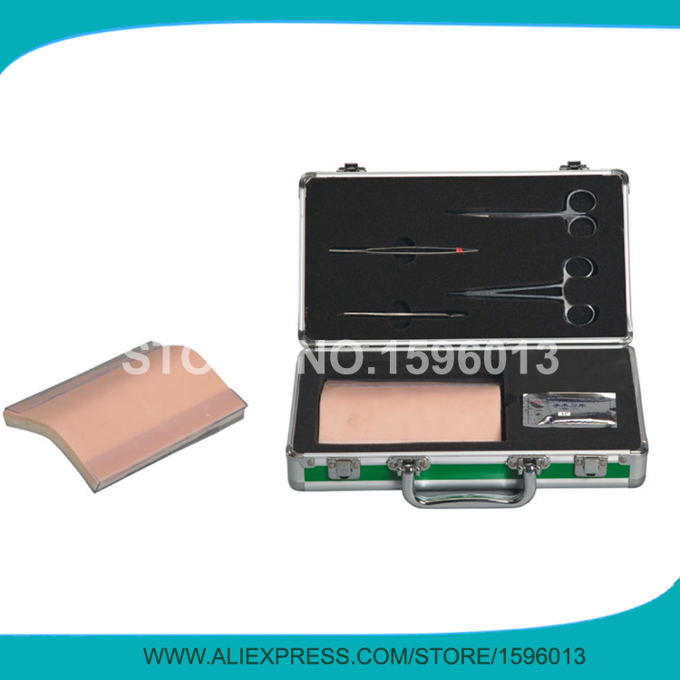 Advanced Surgical Suture Training Kit, Suture Practice Pad with Surgical Instruments,Suturing Skin shunzaor medical skin suture practice manipulation practice technique training modules kit