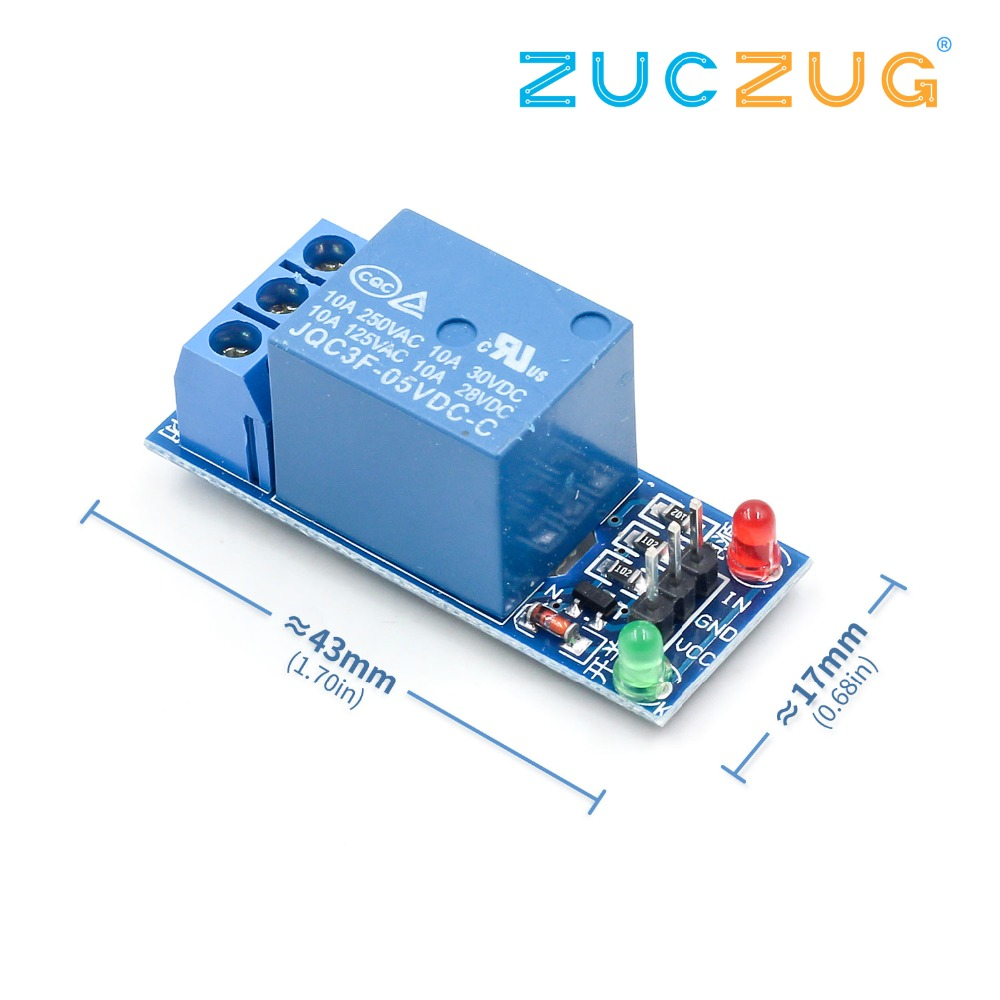 1PCS 5V Low Level Trigger One 1 Channel Relay Module Interface Board Shield For PIC AVR DSP ARM MCU Arduino