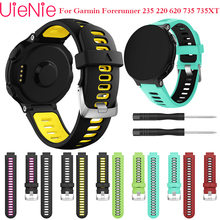 For Garmin Forerunner 735XT 220 230 235 620 630 smart watch band soft silicone replacement strap sports wristband with tool Band for garmin forerunner220 235 620 630 735xt watch band quality silicone watchband with tools garmin smart watches accessories