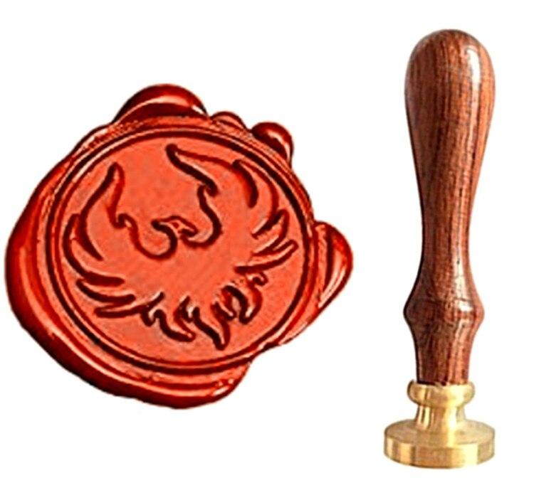 MDLG Phoenix Vintage Custom Picture Logo Luxury Wax Seal Sealing Stamp mdlg hippocampus vintage custom picture logo luxury wax seal sealing stamp