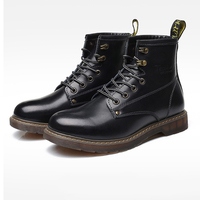 American man leather shoes desert boots male Martin boots outdoor combat military shoes Hiking Shoes