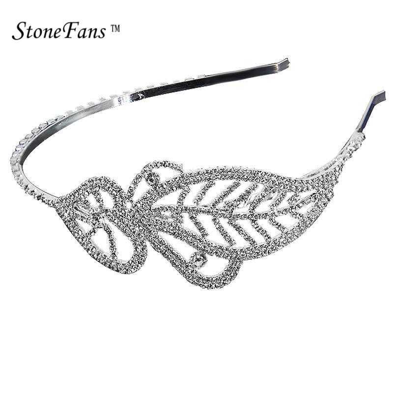 StoneFans Crystal Rhinestone Headband For Girls Bridal Metal Leaves Head  Band Flower Headband Wedding For Adult Hair Accessories efcdd9bf1b1e