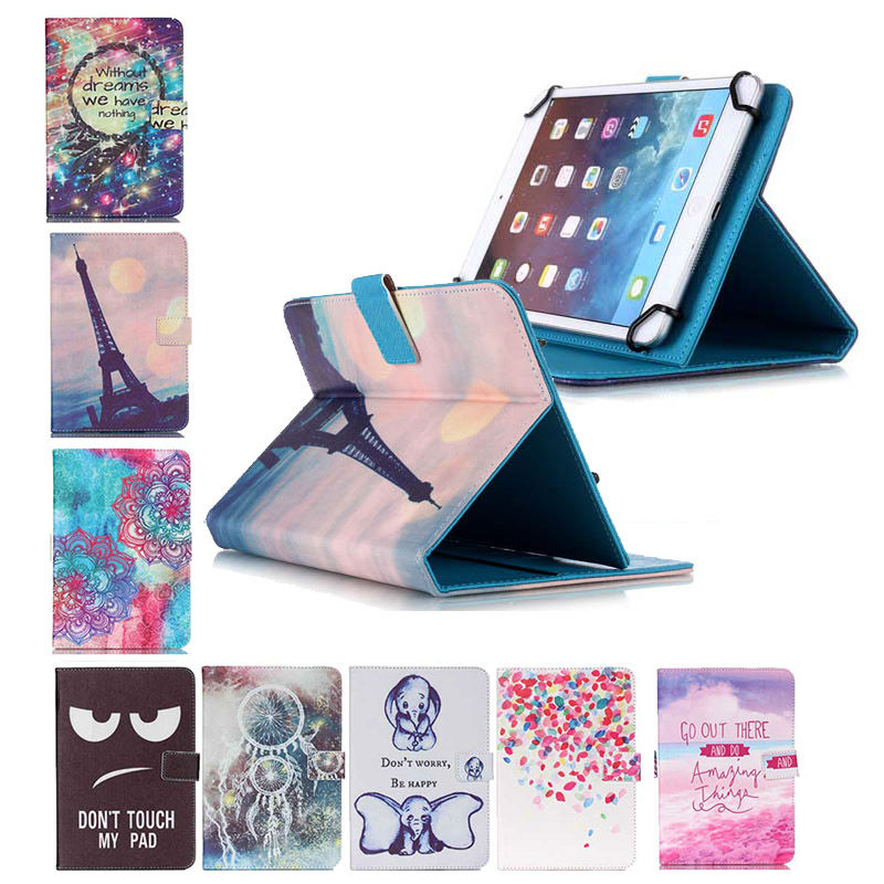 все цены на Universal Leather Stand Card Slot Case cover For Fly Flylife Connect 10.1 3G 2 10.1 inch Android Tablet 10 inch+flim+pen KF553C онлайн