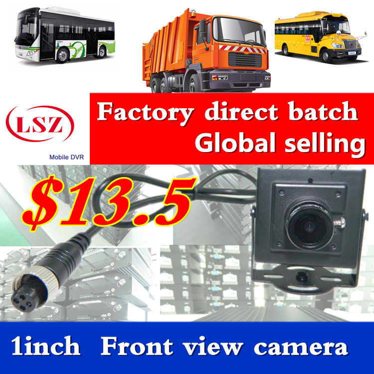1inch Front view camera factory direct batch car camera, truck / bus monitoring probe factory direct batch] high definition car camera automobile infrared monitoring school bus waterproof shock