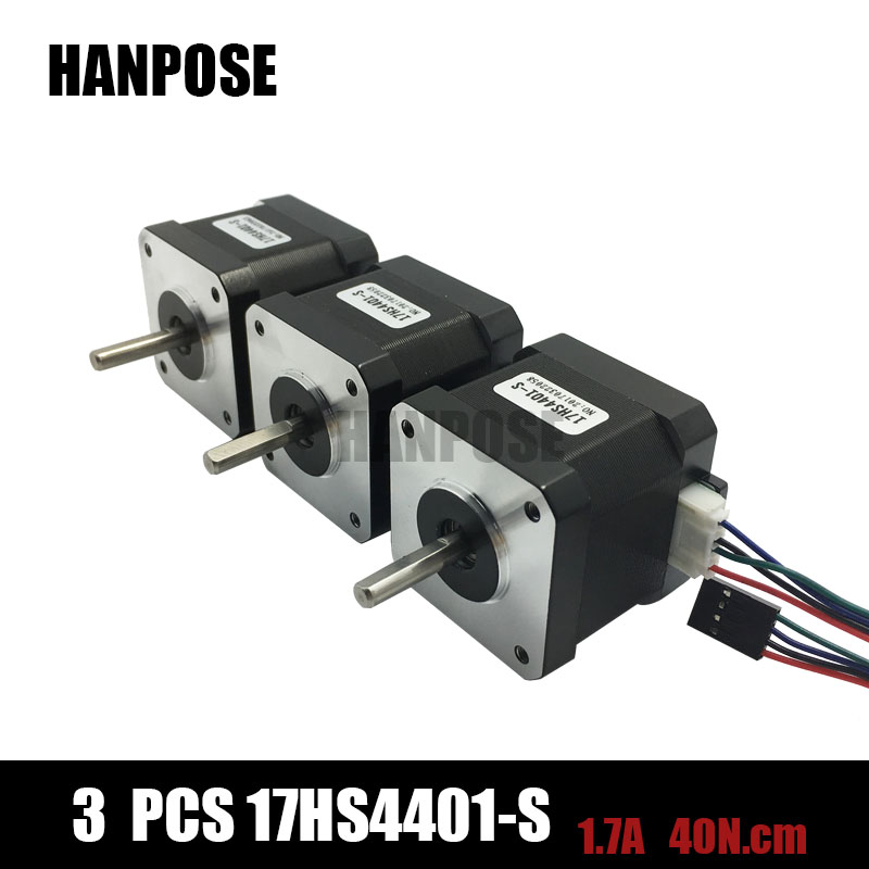 3pcs 3d printer 4 lead nema17 stepper motor 42 motor nema for Nema 17 stepper motor datasheet