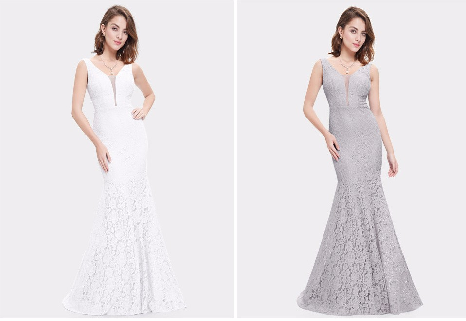 Merineitsi lõikega pidulikud kleidid