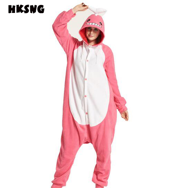 a3f8e6e73259 HKSNG New Pink Whale Shark Pajamas Animal Cartoon Winter Women Men Onesies  Hooded Cosplay Costumes Pyjamas Homewear For Party