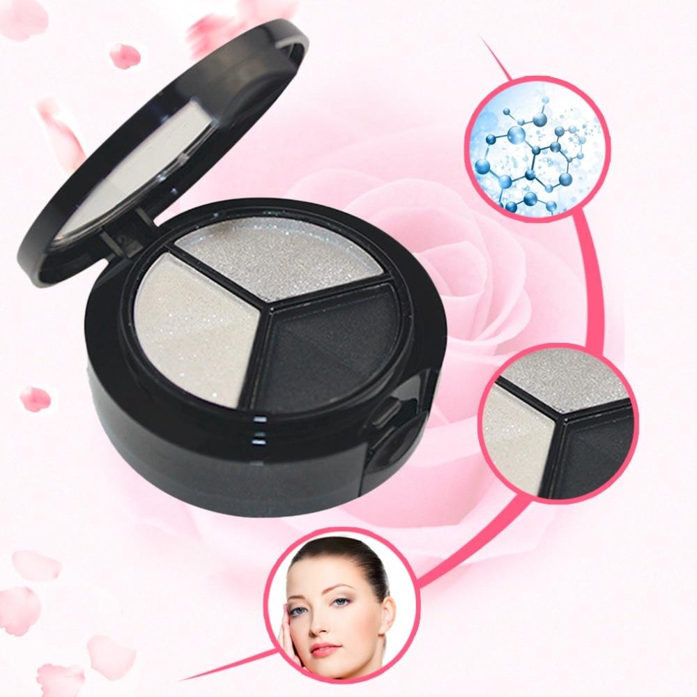 3 Colores Mujeres Profesionales Del Maquillaje Ahumado Sombra de Ojos Paleta Cos