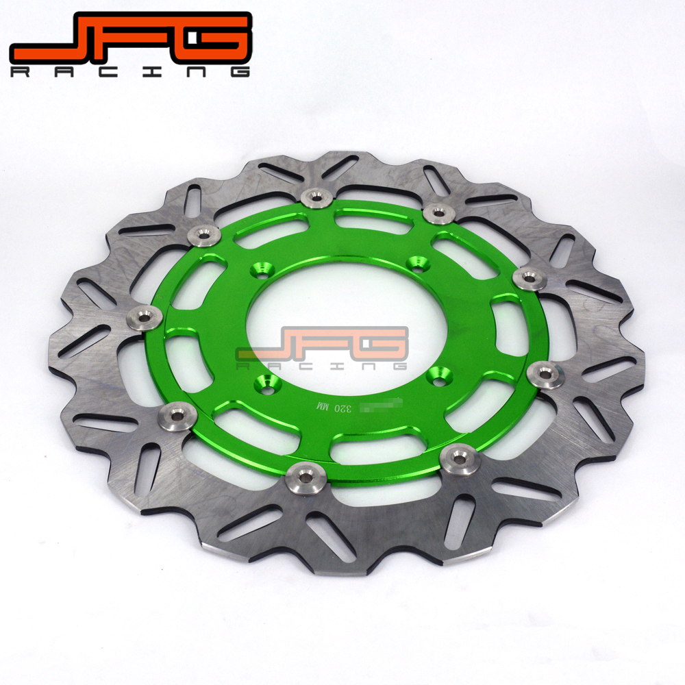 320MM FLOATING DISC  FRONT BRAKE DISCS ROTORS FOR KAWASAKI KX125 KX250 06-08 KXF250 KX250F 2006-2014 KLX450R KX450F