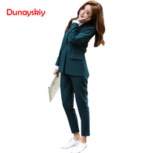Dunayskiy Women Business 2 Piece Pant Suit Set Office Lady W