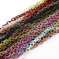 Handmade Nylon Cross Chains Loop, Oval, Mixed Color, 10x8x7mm, about 850mm/strand, 33.5""