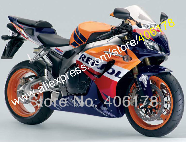 Ventes chaudes, pour Honda CBR1000RR 2006 2007 Repsol CBR1000 RR CBR 1000 RR 06 07 Corps ABS Moto Carénage Ensemble (Injection moulage)