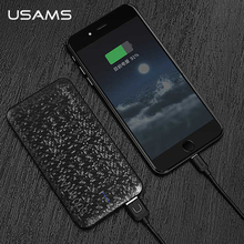 Power bank for xiaomi Mi,USAMS Mosaic Ultra Slim 5000 mAh Powerbank for iPhone 4 5 6 7 SE Samsung Mobile Phone