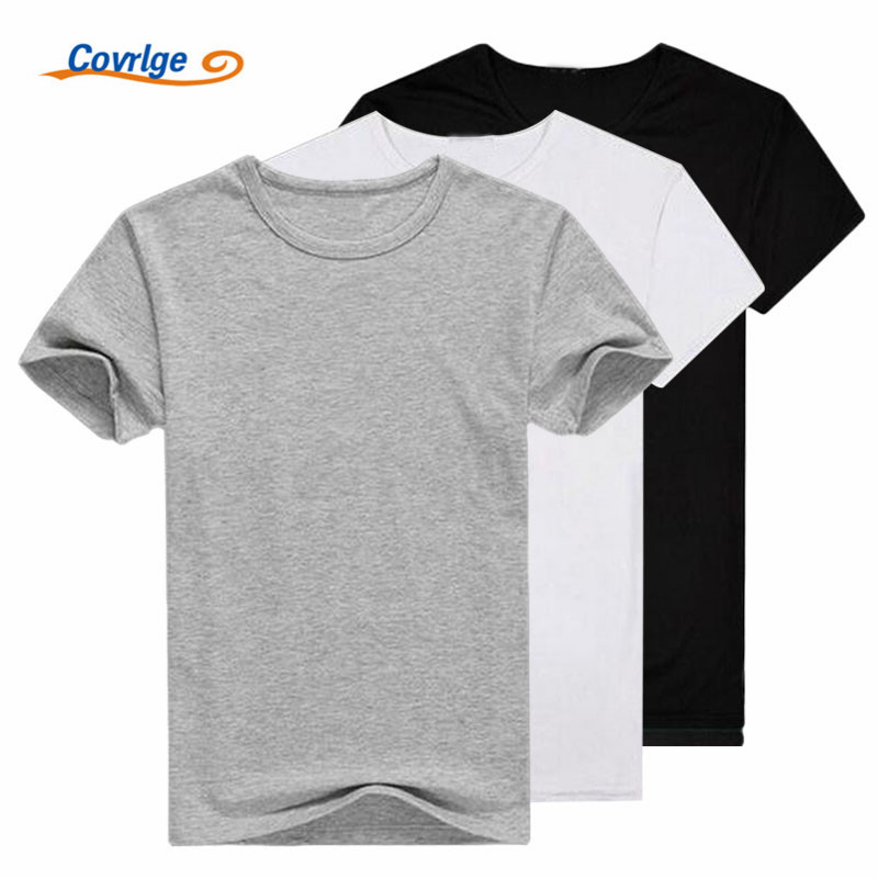 Covrlge 3 darab / Lot T-shirt 2 darab / Lot Férfiak 2019 Divatos póló O-nyakú férfi alkalmi póló Rövid ujjú T-shirt MTS313