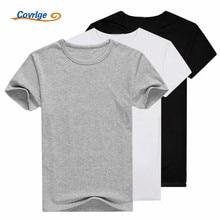 2 Pieces/Lot T Shirt Men 2017 Fashion Tshirt O-neck Cotton T-shirt Short Sleeve Solid Mens T-shirts Brand Clothing MTS313