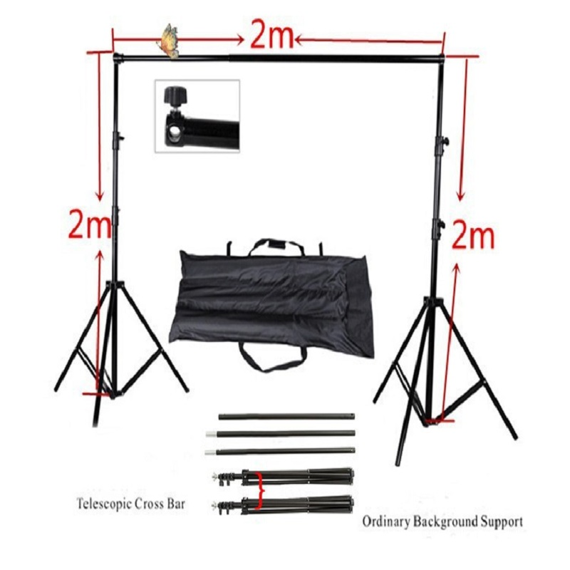 Allenjoy Photographic equipment 2 * 2m manual quality aluminum frame background Stand LLL
