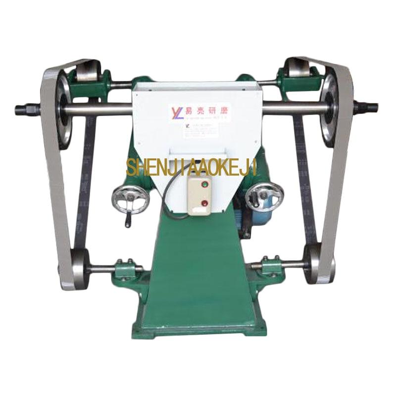 Électrique sable ceinture machine 4kw Triangle ceinture de sable de broyage de polissage machine bras oscillant type Télescopique sablage machine 1 PC