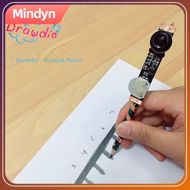 Mindyn Children DIY Handmade Singing Pencil Drawdio Sound Pen Painting Educational Material Handcraft