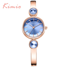 KIMIO Simple Gemini Rhinestones Ladies Watches Top Brand Luxury Women Dress Bracelet Watch Strap Quartz Women's Watch Wristwatch