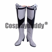 Team RWBY Princess Weiss Schnee Snow Angel Ice Queen Little Snowflake White Cosplay Boots Shoes S008
