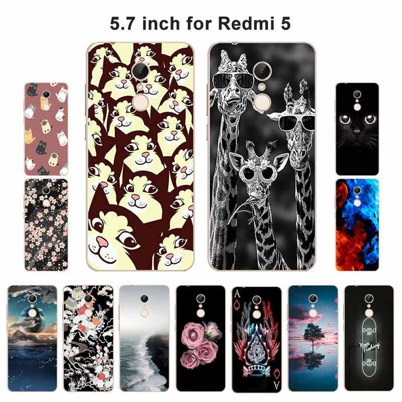 Чехол для Xiaomi Redmi 5 ТПУ Мягкий случаи мобильного телефона силикона задняя крышка телефона для Redmi5 Hongmi 5 Blaze роспись принципиально