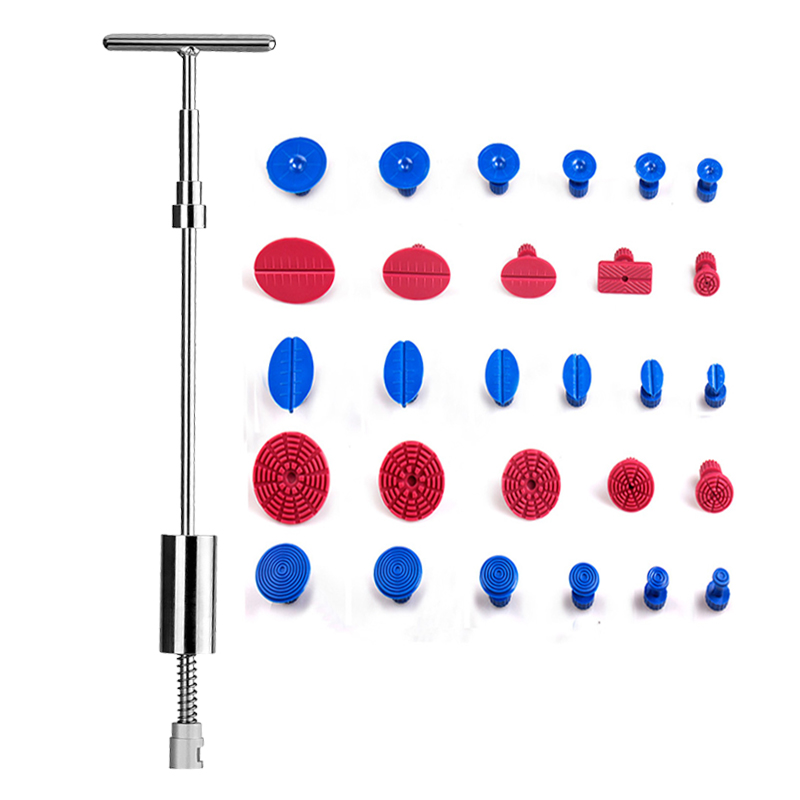 PDR Tools Dent Removal Paintless Dent Repair Tools Slide Hammer Dent Puller PDR Suckers Suction Cup Puller Tabs Tools Kit spot welding sheet metal tools spotter tools with slide hammer 393pieces ss 393