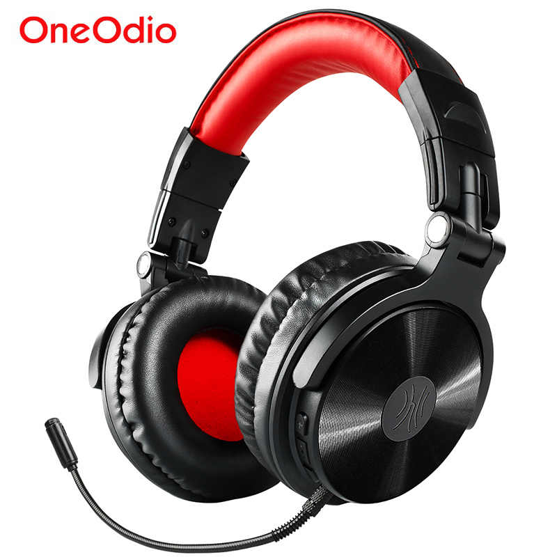 Oneodio Kabel Nirkabel Bluetooth Headphone dengan Kontrol Volume Mikrofon Stereo Bluetooth Gaming Headset untuk Ponsel Komputer PC Gamer