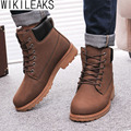 Wikileaks Hot Sell Men Winter Boots Botas Masculina New PU Men Snow Boots Plus Size Cotton Warm Winter Shoes Zapatillas Hombre