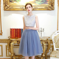 New Fashion Women Tulle Skirts Saia Tulle Skirt A Line Knee Length Custom Made Fashion Casual