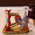 Hecho a mano Clásico Juego Del Circo Elefante Con Pelota Juguetes de Colección Retro Estaño Clockwork Juguetes Vino Decoración de La Barra