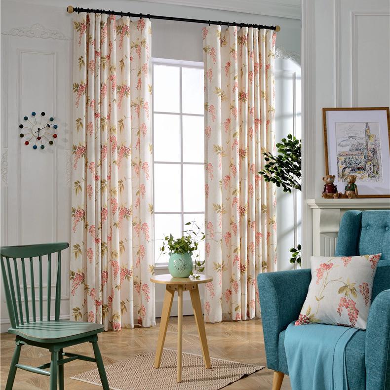 nueva coreano japons de algodn impreso cortinas de tela de fbrica directa al por mayor impresa