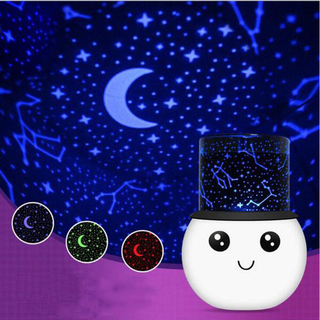 3W Star Sky Projector LED Night Light Cute Romantic Colorful Projection Lamp  Aurora USB Rechargeable Led
