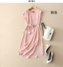 new  arrival 100% silk women fresh small floral silk dress pure silk china style female silk printin Sexy and noble-b188