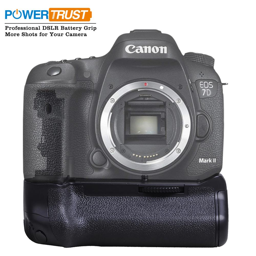 Powertrust Battery grip for Canon 7D Mark II 7D2 DSLR Camera as BG-E16 work with LP-E6 Battery or 6 Pieces AA Battery