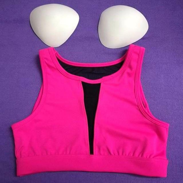 Sport Woman Fitness Bra Padded Yoga Bra Shake proof Mesh Workout Gym Sports Bra Top Wire Free Push Up Running Bra