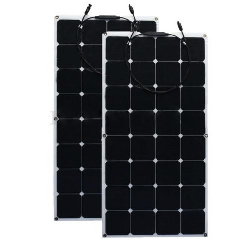 <font><b>12V</b></font> 200W Monocrystalline <font><b>Solar</b></font> <font><b>Panel</b></font> Semi Flexible Efficiency <font><b>Solar</b></font> <font><b>Panel</b></font> Battery Charger For RV Boat Battery Charge image