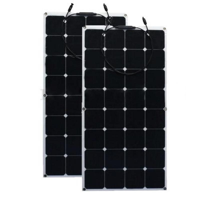 12V 200W Monocrystalline Solar Panel Semi Flexible Efficiency Solar Panel Battery Charger For RV Boat Battery