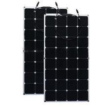 12 В 200 Вт монокристаллического Панели солнечные полу гибкие эффективность Панели солнечные Батарея Зарядное устройство для RV лодка Батарея зарядки