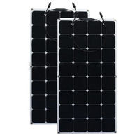 12V 200W Monocrystalline Solar Panel Semi Flexible Efficiency Solar Panel Battery Charger For RV Boat Battery Charge