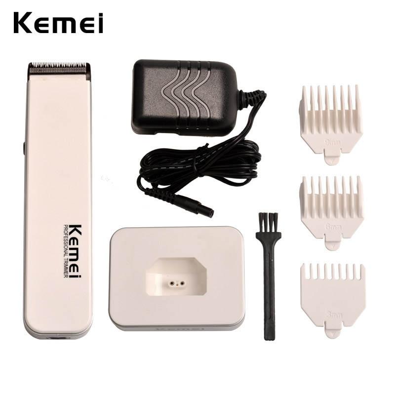 купить Kemei 110-240V Rechargeable Electric Hair Trimmer Professional Hair Clipper Hair Cutting Machine Men Baby Haircut Trim Hair Kit по цене 918.65 рублей