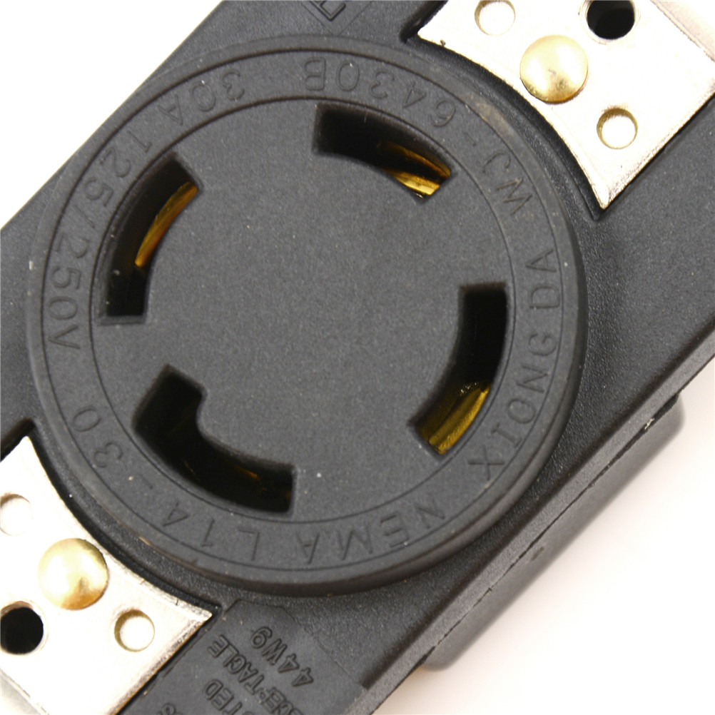 Nema L14 30p 125v 250v 30a 4 Hole Generator Outlet Us Anti Off Wiring A L1430p Plug Industry Power Socket Inline Wire Connector In Electrical Sockets From Home Improvement On